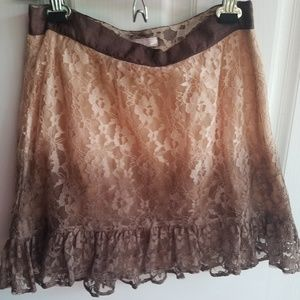 Romeo and Juliet Ombre Lace Mini Skirt